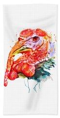 Turkey Head Hand Towel by Marian Voicu