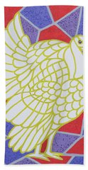 Turkey On Stained Glass Hand Towel by Pat Scott