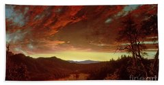 Twilight In The Wilderness Hand Towel by Frederic Edwin Church