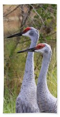Two Sandhills In Green Hand Towel by Carol Groenen
