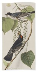 Tyrant Fly Catcher Hand Towel by John James Audubon