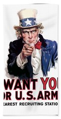 Uncle Sam -- I Want You Hand Towel by War Is Hell Store