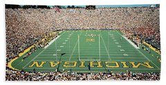 University Of Michigan Stadium, Ann Hand Towel by Panoramic Images