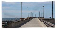 Venice Beach Pier Hand Towel by Ana V Ramirez
