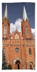 Very Old Church In Odrzywol, Poland Hand Towel by Arletta Cwalina