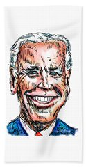 Vice President Joe Biden Hand Towel by Robert Yaeger