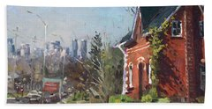 View Of Mississauga City Hand Towel by Ylli Haruni