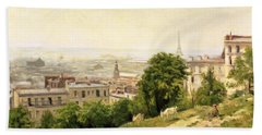View Of Paris Hand Towel by Stanislas Victor Edouard Lepine