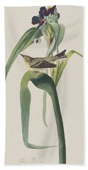 Vigor's Warbler Hand Towel by John James Audubon