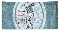 Vintage Golf Blue 2 Hand Towel by Debbie DeWitt