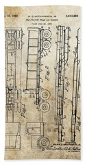 Vintage Semi Trailer Truck Patent Hand Towel by Dan Sproul