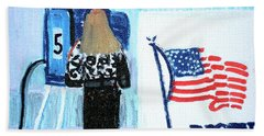 Voting Booth 2008 Hand Towel by Candace Lovely