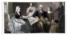 Washington And His Family Hand Towel by War Is Hell Store