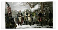 Washington And His Generals  Hand Towel by War Is Hell Store