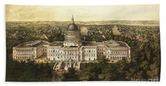 Washington City 1857 Hand Towel by Jon Neidert