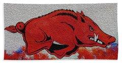 Woo Pig Sooie 2 Hand Towel by Belinda Nagy