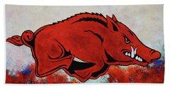 Woo Pig Sooie Hand Towel by Belinda Nagy