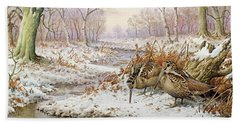 Woodcock Hand Towel by Carl Donner