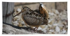Woodcock Hand Towel by Donna  Smith