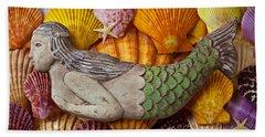 Wooden Mermaid Hand Towel by Garry Gay