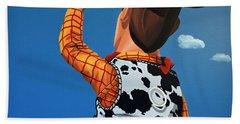 Woody Of Toy Story Hand Towel by Paul Meijering