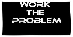 Work The Problem The Martian Tee Hand Towel by Edward Fielding