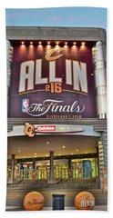 World Champion Cleveland Cavaliers Hand Towel by Frozen in Time Fine Art Photography