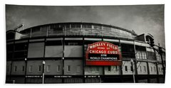 Wrigley Field Hand Towel by Stephen Stookey