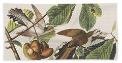 Yellow Billed Cuckoo Hand Towel by John James Audubon