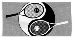 Yin Yang Tennis Hand Towel by Carlos Vieira