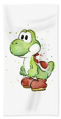 Yoshi Watercolor Hand Towel by Olga Shvartsur