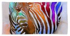 Zebra Dreams Hand Towel by Galen Hazelhofer