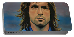 Andrea Pirlo Portable Battery Charger by Paul Meijering