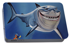 Finding Nemo Painting Portable Battery Charger by Paul Meijering