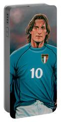 Francesco Totti Italia Portable Battery Charger by Paul Meijering