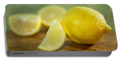 Lemon Citrus Limon Zitronen Portable Battery Charger by Iris Richardson