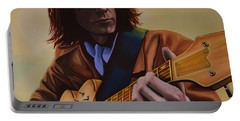 Neil Young Painting Portable Battery Charger by Paul Meijering