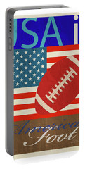 Usa Is American Football Portable Battery Charger by Joost Hogervorst