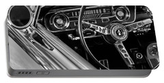 1965 Shelby Prototype Ford Mustang Steering Wheel Portable Battery Charger by Jill Reger