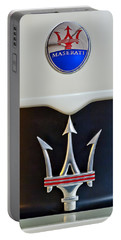 2005 Maserati Mc12 Hood Emblem Portable Battery Charger by Jill Reger
