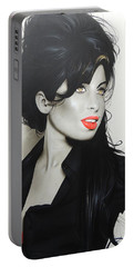 ' Amy Winehouse ' Portable Battery Charger by Christian Chapman Art