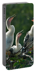 Anhinga Chicks Portable Battery Charger by Mark Newman
