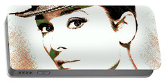 Audrey Hepburn Portable Battery Charger by Dan Sproul