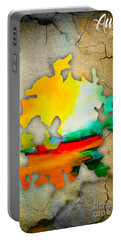 Austin Map Watercolor Portable Battery Charger by Marvin Blaine