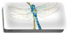 Blue Dragonfly Portable Battery Charger by Amy Kirkpatrick