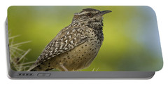 Cactus Wren  Portable Battery Charger by Saija  Lehtonen