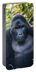 Close-up Of A Mountain Gorilla Gorilla Portable Battery Charger by Panoramic Images