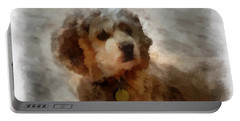 Cocker Spaniel Photo Art 01 Portable Battery Charger by Thomas Woolworth