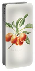 Crab Apples Portable Battery Charger by Sally Crosthwaite