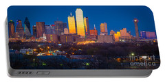 Dallas Skyline Portable Battery Charger by Inge Johnsson
